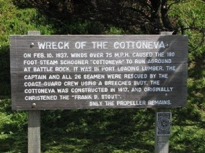 Wreck of the Cottoneva Marker image. Click for full size.