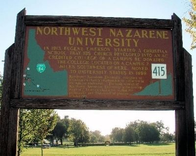 Northwest Nazarene University Marker image. Click for full size.