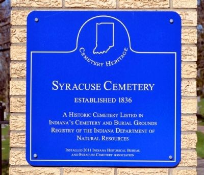 Syracuse Cemetery Marker image. Click for full size.