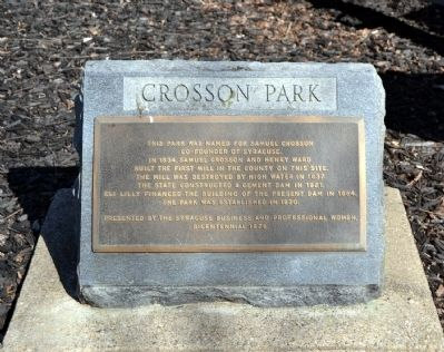 Crosson Park Marker image. Click for full size.