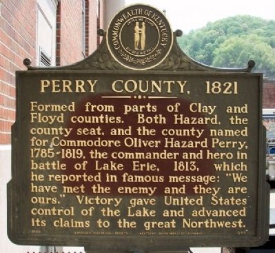 Perry County, 1821 Marker image. Click for full size.