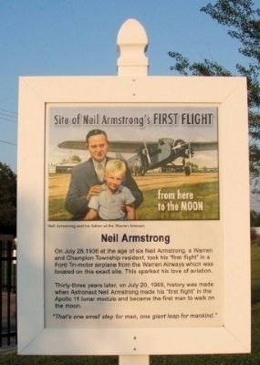 Site of Neil Armstrong's First Flight Marker image. Click for full size.