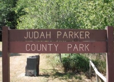 Judah Parker County Park Entrance Sign image. Click for full size.