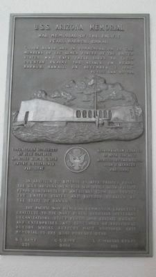 U.S.S. Arizona Memorial Plaque, Right image. Click for full size.