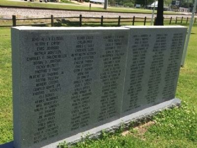 Thorsby Remembers Our Veterans names. image. Click for full size.