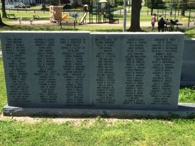 Thorsby Remembers Our Veterans names image. Click for full size.