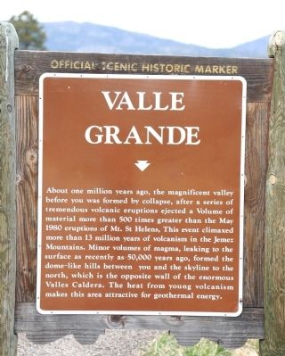 Valle Grande Marker image. Click for full size.