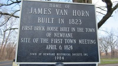 Home of James Van Horn Marker image. Click for full size.