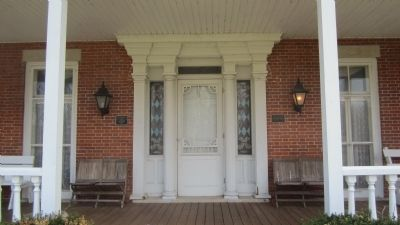 Front Entrance Home of James Van Horn image. Click for full size.