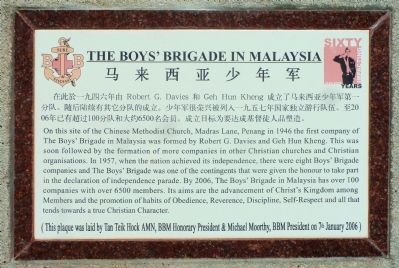 The Boy's Brigade in Malaysia Marker image. Click for full size.