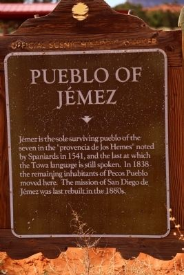 Pueblo of Jémez Marker image. Click for full size.