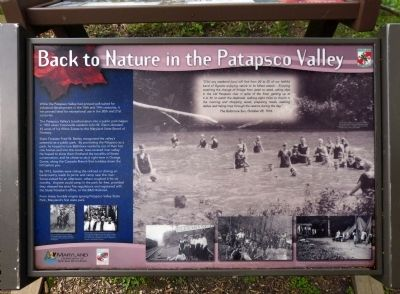 Back to Nature in the Patapsco Valley Marker image. Click for full size.