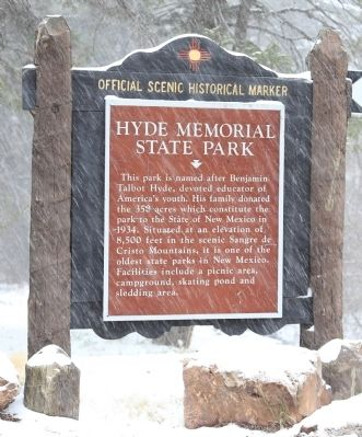 Hyde Memorial State Park Marker image. Click for full size.