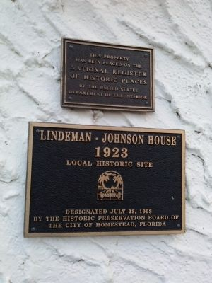 Lindeman-Johnson House Marker image. Click for full size.