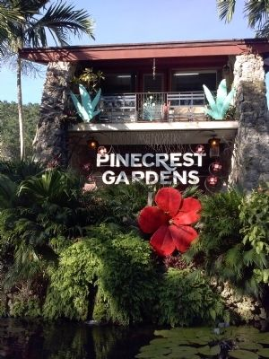 Pinecrest Gardens Sign image. Click for full size.