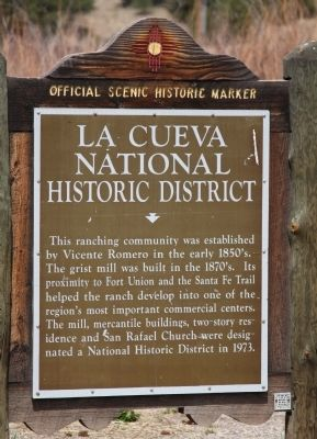 La Cueva National Historic District Marker image. Click for full size.