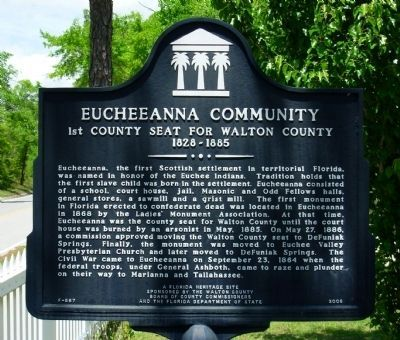 Eucheeanna Community Marker image. Click for full size.