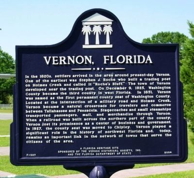Vernon, Florida Marker image. Click for full size.