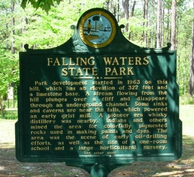 Falling Waters State Park Marker image. Click for full size.