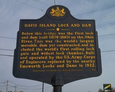 Davis Island Lock and Dam Marker image. Click for full size.