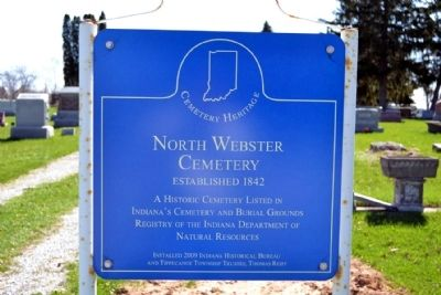North Webster Cemetery Marker image. Click for full size.