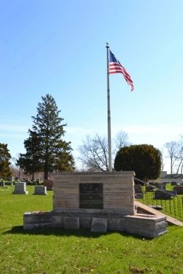 North Webster Cemetery Veterans Memorial image. Click for full size.