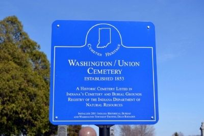 Washington / Union Cemetery Marker image. Click for full size.