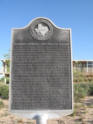 Monahans Sandhills State Park and Museum Marker image. Click for full size.