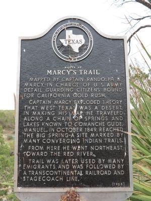 Route of Marcy's Trail Marker image. Click for full size.