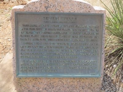 Seven Wells Marker image. Click for full size.
