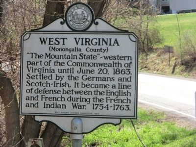 West Virginia (Monongalia County) Face of Marker image. Click for full size.