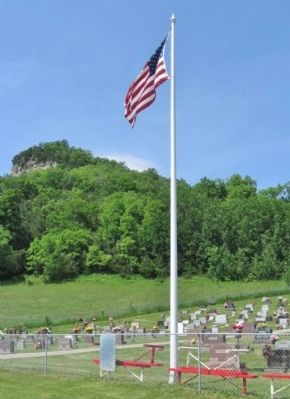 Flagpole at Cemetery image. Click for full size.