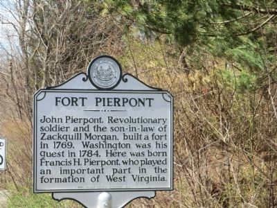 Fort Pierpont Marker image. Click for full size.