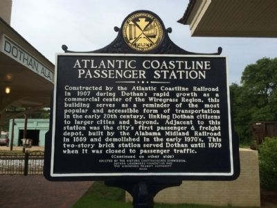 Atlantic Coastline Passenger Station Marker image. Click for full size.