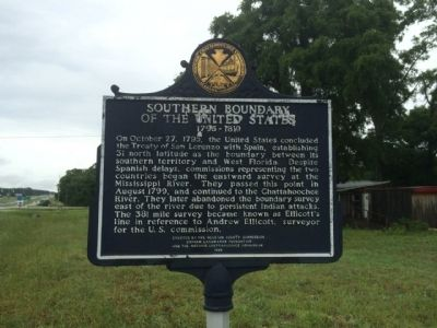 Southern Boundary of the United States Marker image. Click for full size.