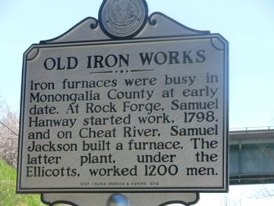 Old Iron Works Marker image. Click for full size.