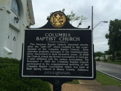Columbia Baptist Church Marker image, Touch for more information