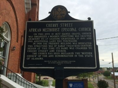 Cherry Street African Methodist Episcopal Church Marker image. Click for full size.
