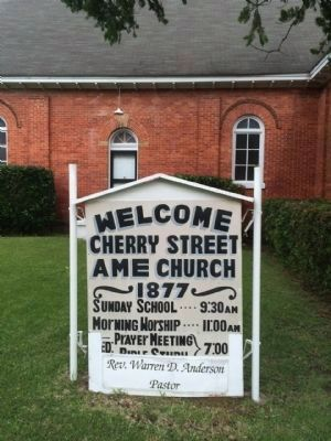 Cherry Street AMEl Church Sign image. Click for full size.