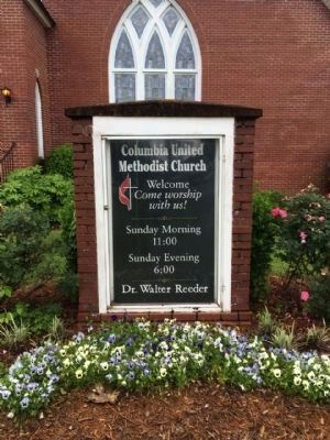 Columbia Methodist Episcopal Church Sign image. Click for full size.