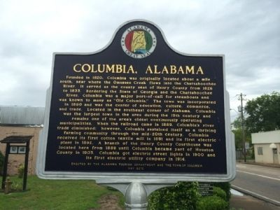 Columbia, Alabama Marker image. Click for full size.