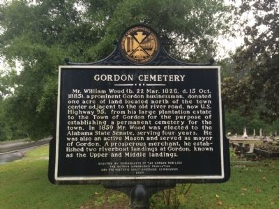 Gordon Cemetery Marker image. Click for full size.