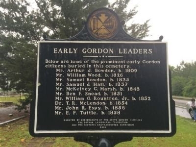 Early Gordon Leaders Marker image. Click for full size.