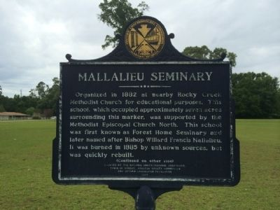 Mallalieu Seminary Marker image. Click for full size.