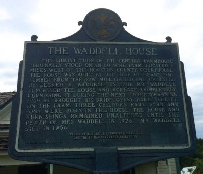 The Waddell House Marker image. Click for full size.