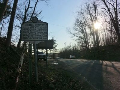 Marion County-Monongalia County Marker image. Click for full size.