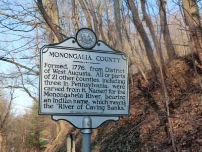 Marion County-Monongalia County Marker-Side 2 image. Click for full size.