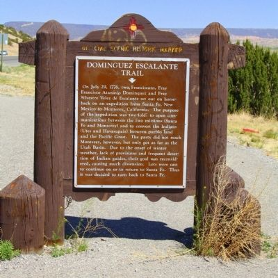 Dominguez Escalante Trail Marker image. Click for full size.