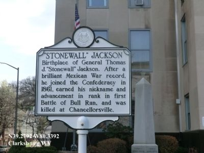 """Stonewall"" Jackson Marker image. Click for full size."