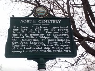North Cemetery Marker image. Click for full size.